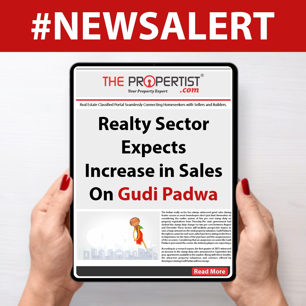 Realty sector expects increase in sales on Gudi Padwa