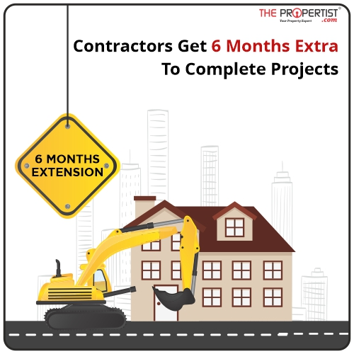 Contractors get 6 months extra to complete projects