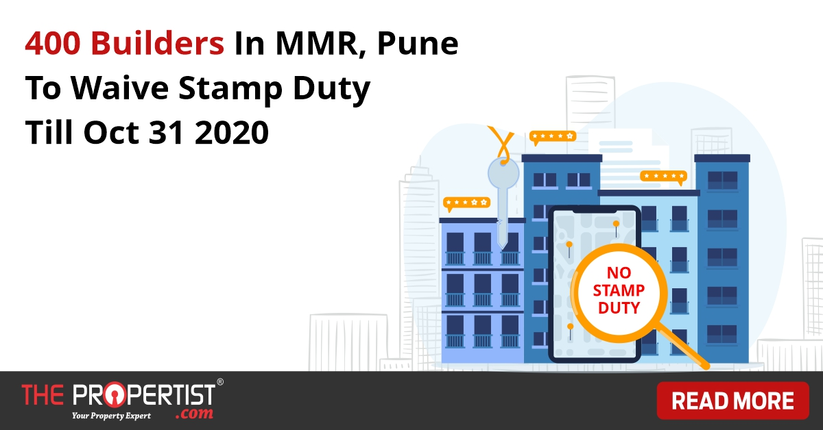 400 builders in MMR and Pune to waive stamp duty